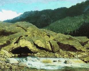 Пейзаж со скалой и ручьем — Фёдор Васильев