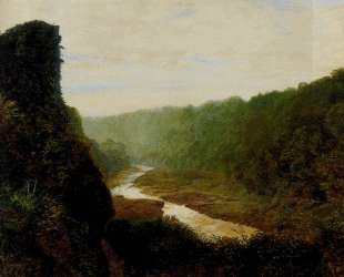 Landscape with a winding river — Джон Эткинсон Гримшоу