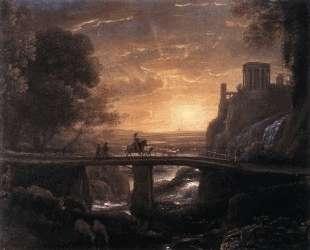Landscape with an Imaginary View of Tivoli — Клод Лоррен