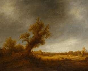 Landscape with an Old Oak — Адриан ван Остаде