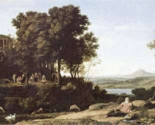 Landscape with Apollo and the Muses — Клод Лоррен
