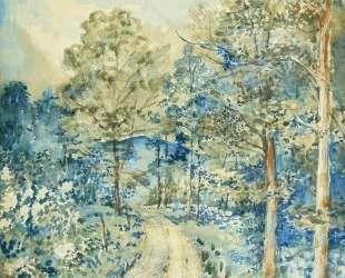 Пейзаж с голубой горой — Давид Бурлюк