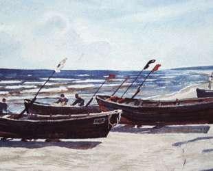 Пейзаж с лодками — Александр Дейнека