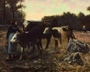 Landscape with Cattle — Роберт Джулиан Ондердонк