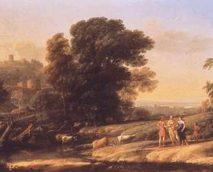 Landscape with Cephalus and Procris Reunited by Diana — Клод Лоррен