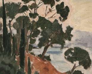 Landscape with Cypresses and Pines on a Rocky Coast — Константинос Партенис