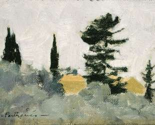 Landscape with Cypress Trees — Константинос Партенис