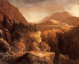 Landscape with Figures A Scene from The Last of the Mohicans — Томас Коул
