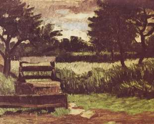 Landscape with fountain — Поль Сезанн