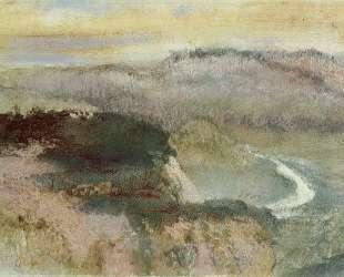 Пейзаж с холмами — Эдгар Дега