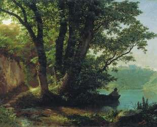 Landscape with lake — Лев Лагорио