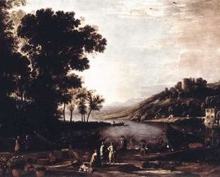Landscape with Merchants — Клод Лоррен