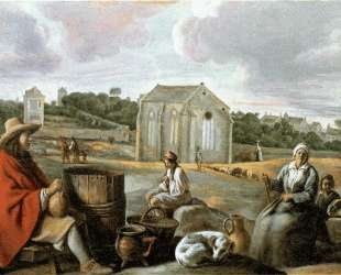 Landscape with Peasants and a Chapel — Братья Ленен