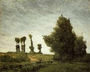 Пейзаж с тополями — Поль Гоген