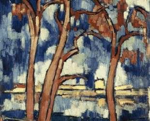 Landscape with Red Trees Chatou — Морис де Вламинк