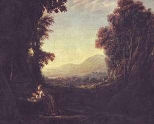 Landscape with repentant Magdalene — Клод Лоррен