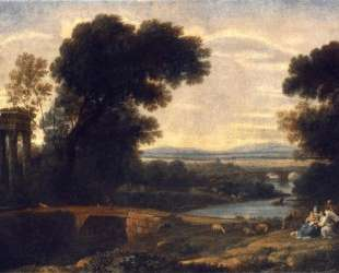Landscape with Rest in Flight to Egypt — Клод Лоррен