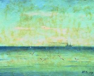 Landscape with seagulls — Лев Лагорио