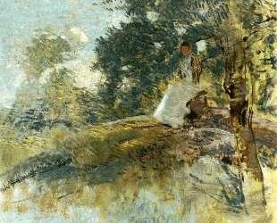 Landscape with Seated Figure — Джулиан Олден Вейр