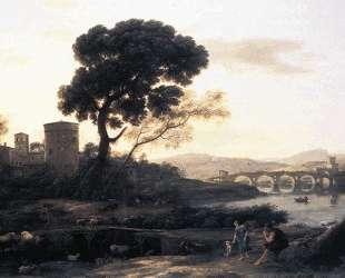 Landscape with Shepherds — The Pont Molle — Клод Лоррен