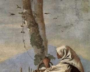 Landscape with sitting farmer — Джованни Доменико Тьеполо