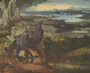 Landscape with St. Jerome — Иоахим Патинир