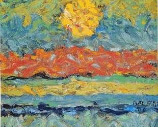 Landscape with Sun — Макс Эрнст