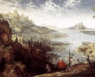 Пейзаж с бегством в Египет — Питер Брейгель Старший