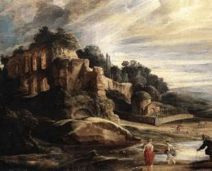Landscape with the Ruins of Mount Palatine in Rome — Питер Пауль Рубенс