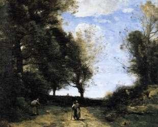 Пейзаж с тремя фигурами — Камиль Коро