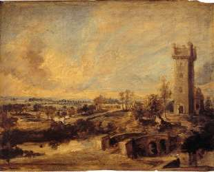 Landscape with Tower — Питер Пауль Рубенс
