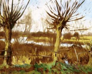 Landscape with trees, Calcot-on-the-Thames — Джон Сингер Сарджент