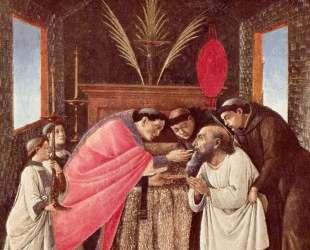 Последнее Причастие святого Иеронима — Сандро Ботичелли