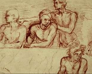 Last Supper (study) — Андреа дель Сарто