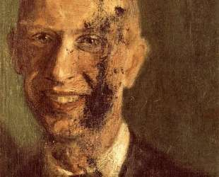 Fragment of a smiling self-portrait at full length, detail — Рихард Герстль