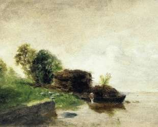Laundress on the Banks of the River — Камиль Писсарро