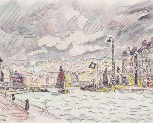 Le Havre with rain clouds — Поль Синьяк