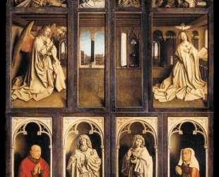 Левая панель Гентского алтаря — Ян ван Эйк