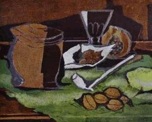 Лимон, грецкие орехи и горшокс табаком — Жорж Брак