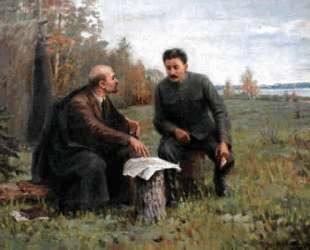 Lenin and Stalin in the summer of 1917 — Иван Владимиров