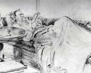 Лев Николаевич Толстой за чтением — Илья Репин
