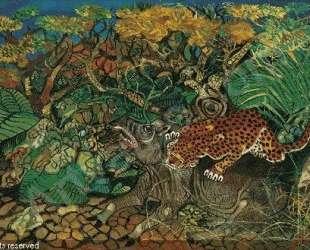 Leopard with tapir — Антонио Лигабуэ