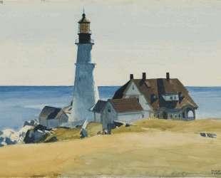Lighthouse and Buildings, Portland Head, Cape Elizabeth, Maine — Эдвард Хоппер