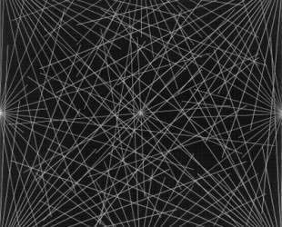 Lines From Corners, Sides & the Centre, to Points on a Grid — Сол Ле Витт