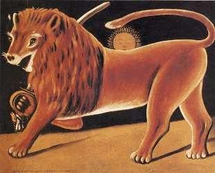 Лев и солнце — Нико Пиросмани
