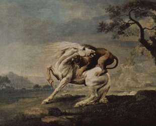 Lion Attacking a Horse — Джордж Стаббс