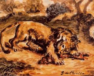 Лев, пожирающий кусок мяса — Джорджо де Кирико
