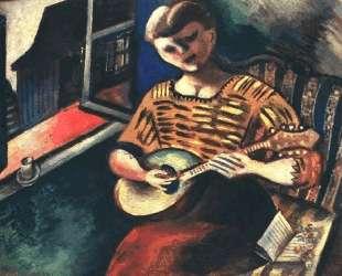 Лиза с мандолиной — Марк Шагал