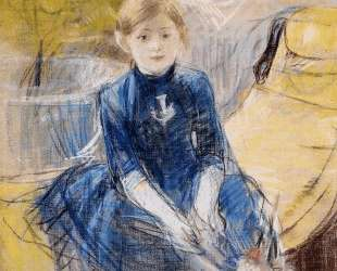 Little Girl with a Blue Jersey — Берта Моризо