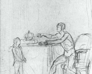 Людовик XVI показывает конституцию своему сыну, дофину — Жак Луи Давид